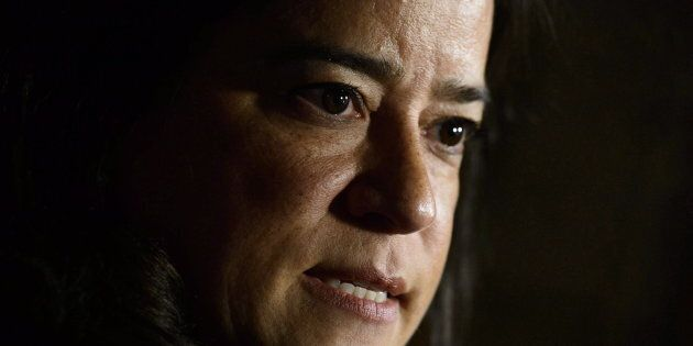 Jody Wilson-Raybould on Parliament Hill in Ottawa on Oct. 18,