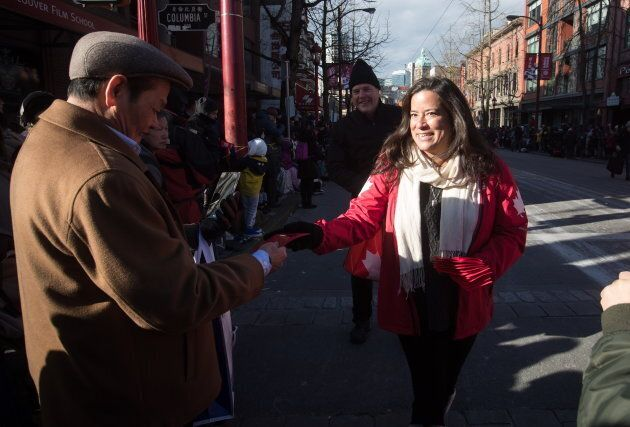 Jody Wilson-Raybould participates in the Chinese New Year Parade in Vancouver on Feb. 10,