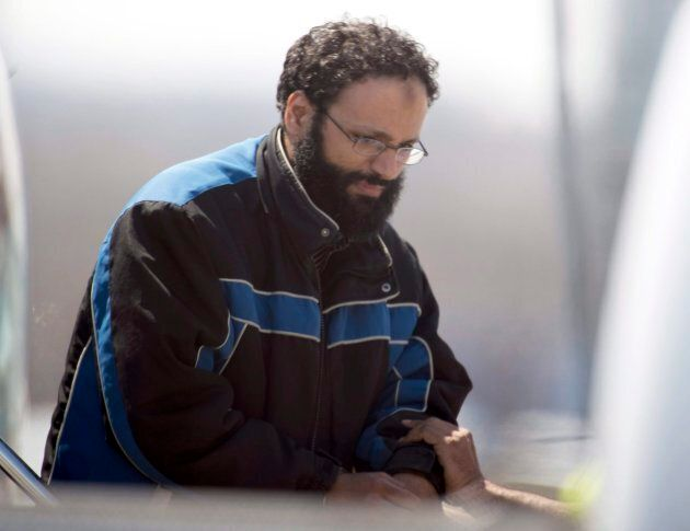 This April 23, 2013, file photo shows Chiheb Esseghaier, one of two men found guilty in the Via Rail...