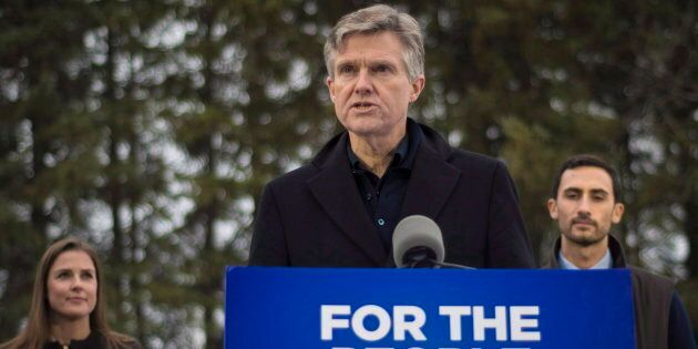 Ontario Environment Minister Rod Phillips discusses the government's climate plan during an event at the Cold Creek Conservation Area in Nobleton, Ont. on Nov. 29, 2018.