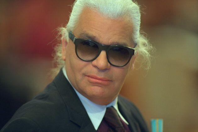 Karl Lagerfeld in 1999, before his dramatic weight
