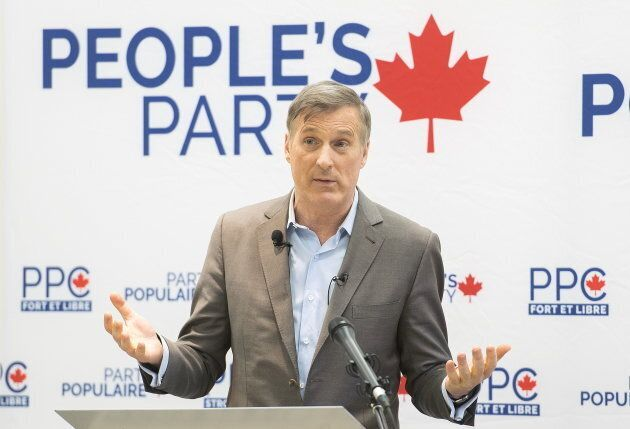 Maxime Bernier in the riding of Outremont in Montreal on Jan. 27,