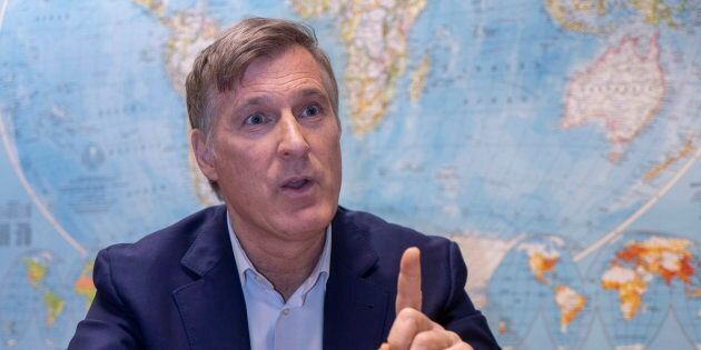 Maxime Bernier during an interview with The Canadian Press in Montreal on Dec. 14,