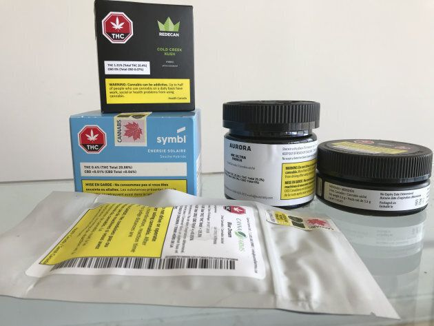 A selection of marijuana ordered from the Ontario Cannabis