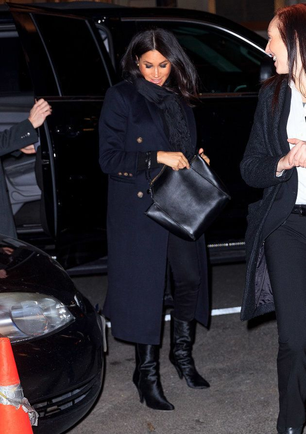Meghan, Duchess of Sussex is seen on Feb. 19, 2019 in New York City.