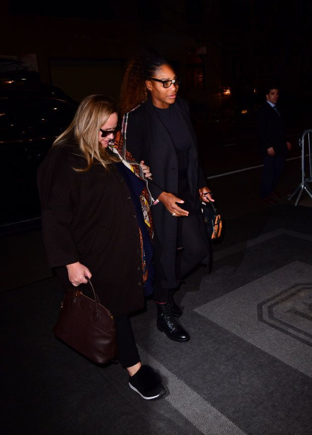 Serena Williams stopped by to dine with her good friend the duchess.