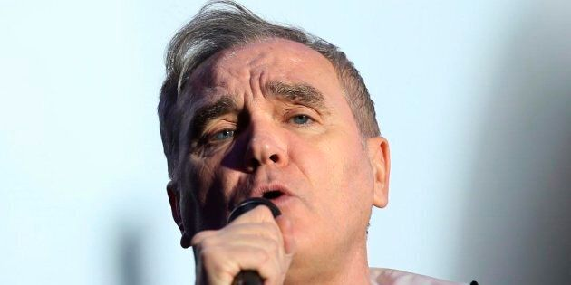 British singer and songwriter Morrissey performs at the Vive Latino music festival in Mexico City, Saturday,...