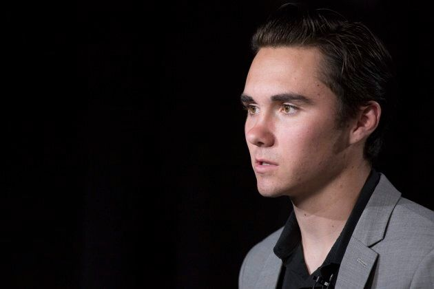 David Hogg discusses the shooting at Marjory Stoneman Douglas High School during an interview in New...