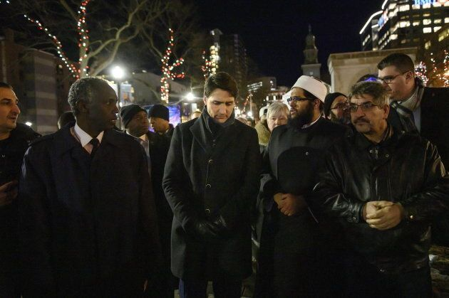 Trudeau meets with Muslim leaders and community members in Halifax on Feb. 20,