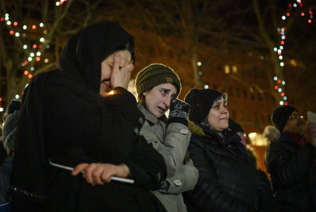 People gather for the vigil in Halifax on Feb. 20,