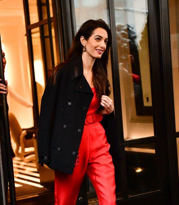 Amal Clooney leaving The Mark Hotel on Feb, 20, 2019.