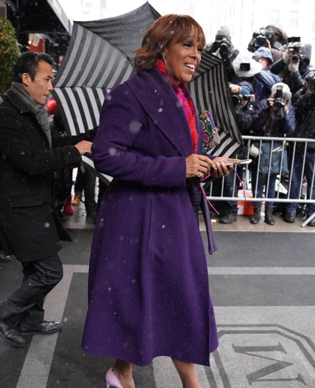 Gayle King leaving The Mark Hotel on 20,