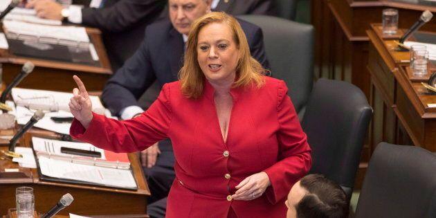 Ontario Minister Lisa MacLeod speaks in the legislature on Nov. 22,