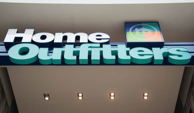 Home Outfitters store front signage is pictured in Toronto on Oct. 23,