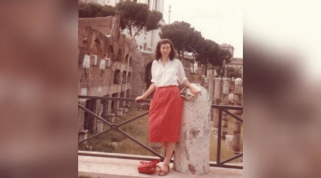 Leona Huggins on her first trip to Rome in 1984.