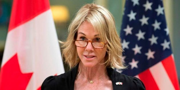 In this Oct. 23, 2017 photo, United States Ambassador to Canada Kelly Knight Craft speaks after presenting...