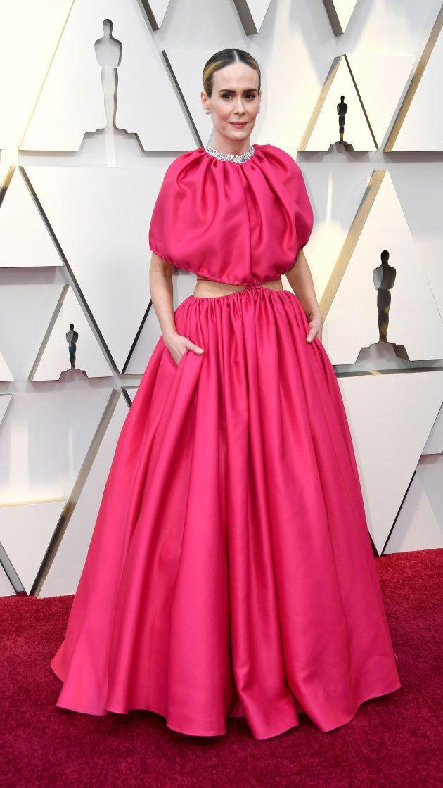 Sarah Paulson at the Oscars on Sunday