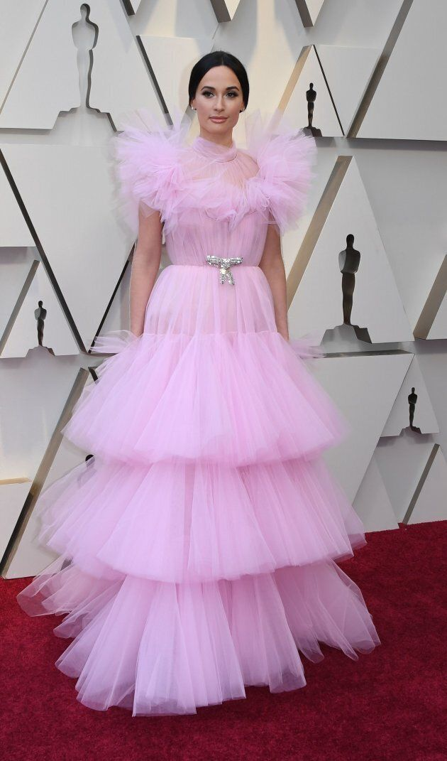 Kacey Musgraves at the Oscars on Sunday night. Oscars pink