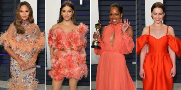 Chrissy Teigen, Hailee Steinfed, Regina King and Emilia Clarke at the 2019 Vanity Fair Oscar