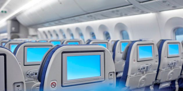 Newer seat-back entertainment systems on some airplanes operated by American Airlines, United Airlines...