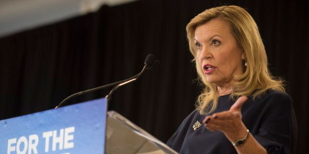 Minister of Health Christine Elliott announces the Government of Ontario's plan for health care at Bridgepoint...