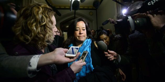 Liberal MP Jody Wilson-Raybould arrives to a caucus meeting on Parliament Hill in Ottawa on Feb. 20,