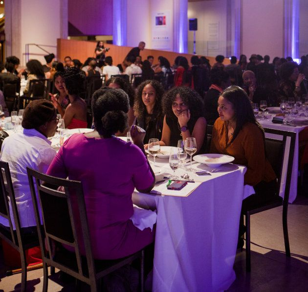 Members of Black Wimmin Artists dine at The Feast.
