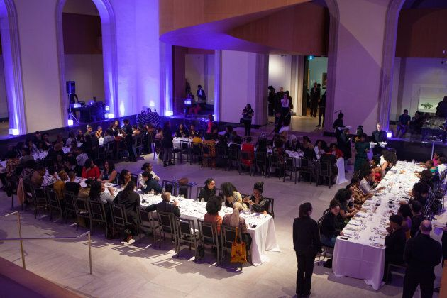 Members of Black Wimmin Artists dine at The Feast, the group's first gathering hosted at the AGO on Jan. 25, 2019.