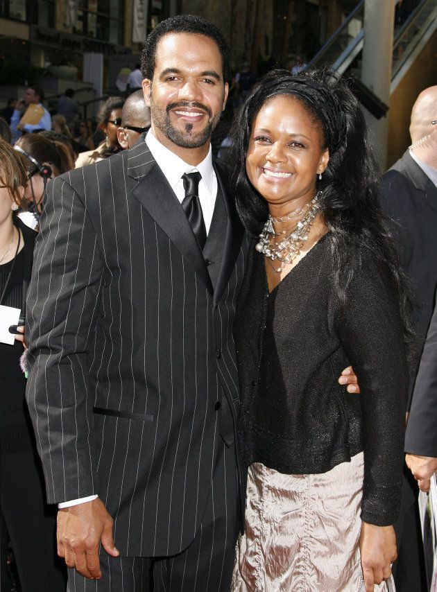 Former and late fellow Y&R actor Kristoff St. John, left, and Tonya