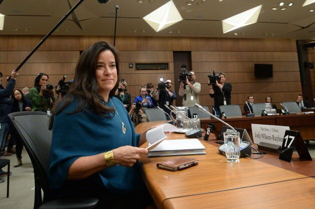 Former attorney general Jody Wilson-Raybould appears at the House of Commons Justice Committee on Parliament...