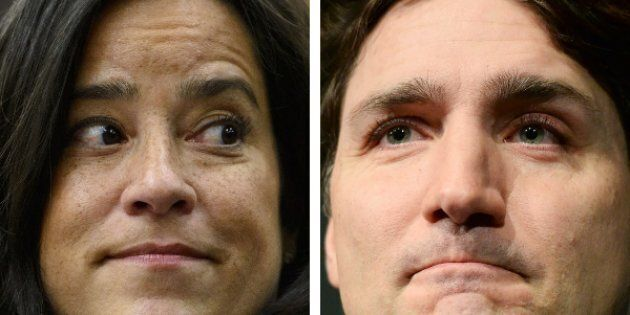 Jody Wilson-Raybould and Prime Minister Justin Trudeau are shown in a composite image.