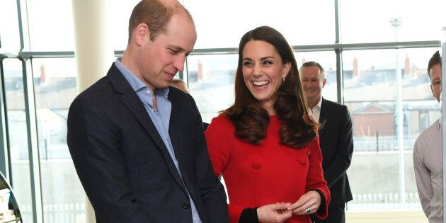 Prince William and Kate Middleton at the National Stadium in Belfast, Northern Ireland, home of the Irish...