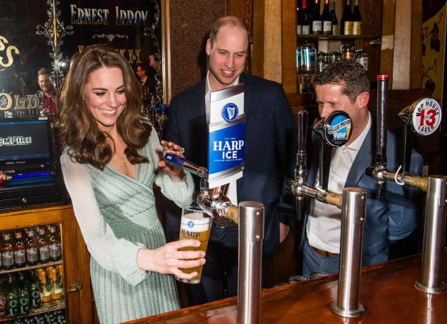 Kate is pretty decent at pouring a pint! (She didn't attempt Guinness, though.)