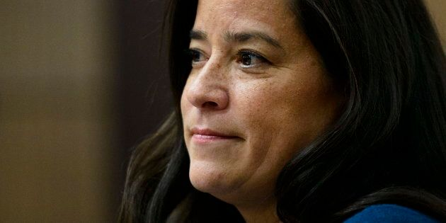 Jody Wilson-Raybould appears before the Justice Committee on Parliament Hill in Ottawa on Feb. 27,