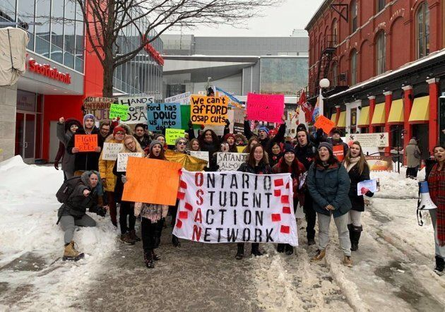 Ontario Student Action Network rally in