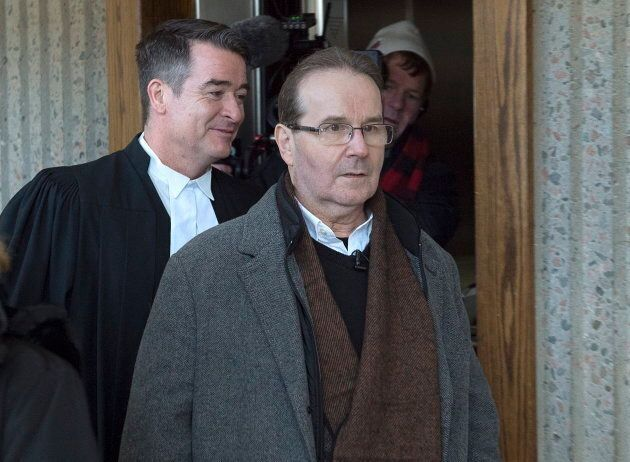 Glen Assoun, right, arrives at Nova Scotia Supreme Court with his lawyer Sean MacDonald in Halifax on...