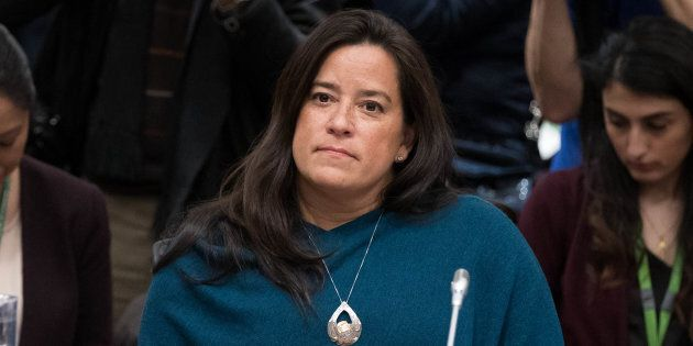 Former Canadian Justice Minister Jody Wilson-Raybould arrives to give her testimony before a justice...
