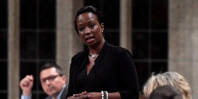 Celina Caesar-Chavannes speaks in the House of Commons on May 25,