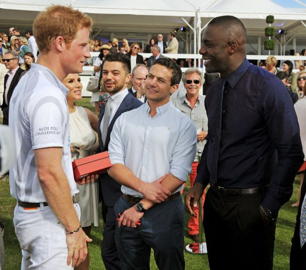 Prince Harry and Idris Elba at the Audi Polo Challenge at Coworth Park Polo Club on Aug. 4, 2013. This...