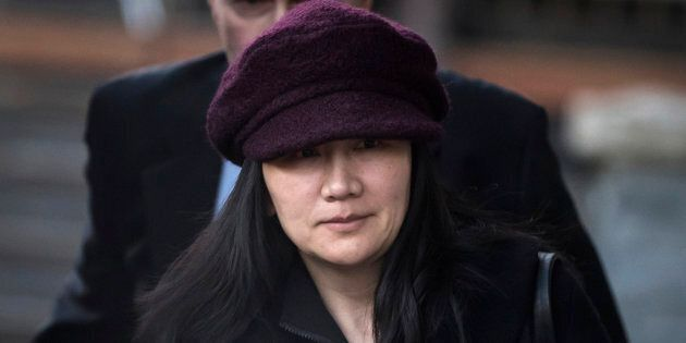 Meng Wanzhou leaves her home to attend a court appearance in Vancouver over the