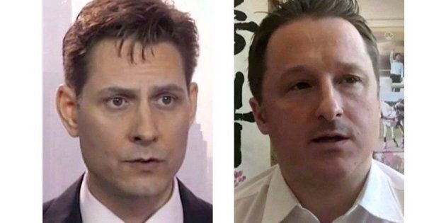 Michael Kovrig (left) and Michael Spavor, the two Canadians detained in China, are shown in these 2018 images taken from video.