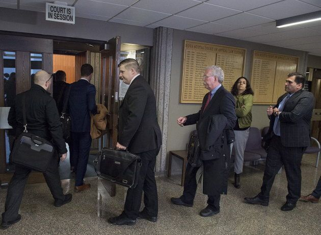 Interested parties attend Nova Scotia Supreme Court as Canada's largest cryptocurrency exchange seeks creditor protection in the wake of the sudden death of its founder and chief executive in December and missing cryptocurrency worth roughly $190-million, in Halifax on Feb. 5, 2019.