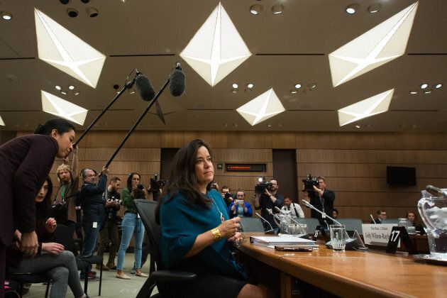 Former Canadian Justice Minister Jody Wilson-Raybould arrives to give her testimony about the SNC-Lavalin affair  on Feb. 27, 2019.