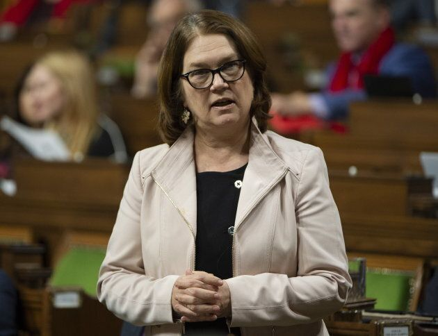 Philpott rises in the House of Commons on Feb. 4, 2019 in