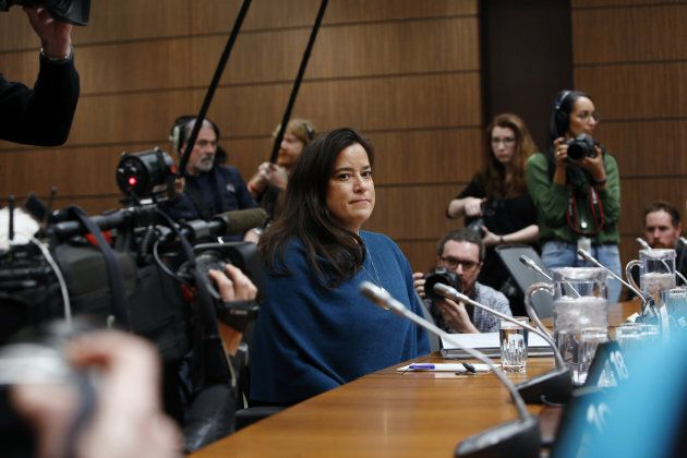 Jody Wilson-Raybould, former attorney general, arrives to testify before the House of Commons justice committee on Parliament Hill in Ottawa on Feb. 27, 2019.