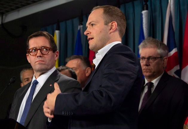 Nathaniel Erskine-Smith speaks during a news conference in Ottawa on Dec. 11,