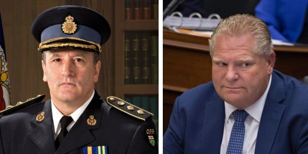 Former deputy commissioner of the Ontario Provincial Police Brad Blair says that his firing was payback...