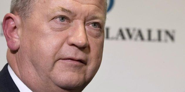 SNC-Lavalin President and CEO Neil Bruce at the company's annual general meeting in Montreal, Thurs....