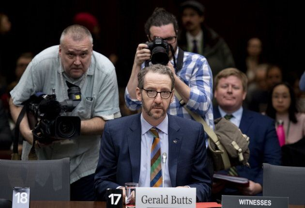 Gerald Butts, former principal secretary to Prime Minister Justin Trudeau, prepares to appear before the Standing Committee on Justice and Human Rights regarding the SNC Lavalin Affair in Ottawa on March 6, 2019.