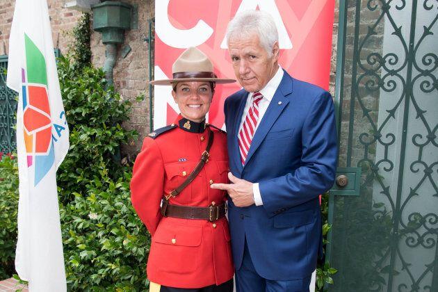 Alex Trebek at the 150th anniversary of Canada's Confederation June 30,